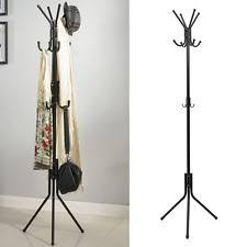 Freestanding 8 Hook Hat and Coat Stand Clothes Hanger Hang Room Stainless  Steel