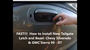 FAST!!! Install Truck Tailgate Latch and Bezel Chevy Silverado GMC ...