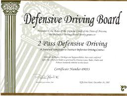 Certificate 2pass Defensive Driving 480 246 1930