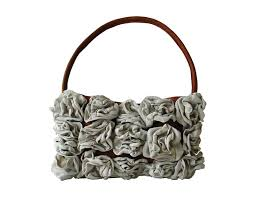 little leather flower bag