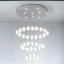 ball chandelier lights crystal clear cast glass sphere magic meteor shower polished chrome rectangular stainless steel base in chandeliers from f floating