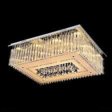 brilliant design crystal glass rod falling square flush mount hanging together crystal diamond droplets