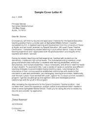 Sample Cover Letter For Teacher Resume Free Download Resume Examples