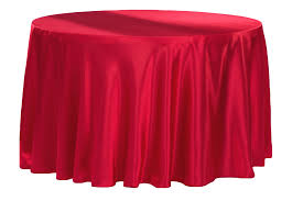 satin 132 round tablecloth apple red