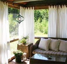 screened porch curtains
