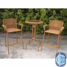 charming outdoor dining room decoration with various outdoor height bar bistro table set inspiring image