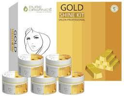 Salon Professional Supplies Pro Colour Chart Pure Organics Gold Shine Salon Professional Facial Kit 250 G