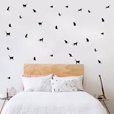 neworldline personalized cute pet wall stickers living room nursery bedroom decor decals bk black