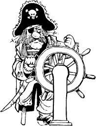Kids N Fun Kleurplaat Piraten Piraat Aan Het Roer