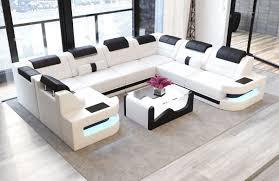 Sofa Leder Weiß Konzept 37knx