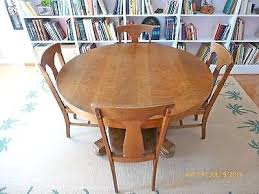 antique oak pedestal dining table and 6 hale chairs round value