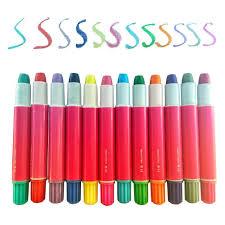 xinfu temporary hair chalk hair chalk set 12 colors temporary hair color pen rainbow
