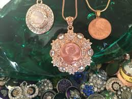 the copper coin gold tone trere snap jewelry