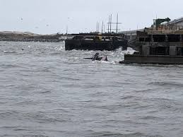 Coast Guard Responds To Diesel Discharge From Semi Submerged