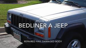 how to paint a jeep with bedliner and rollers