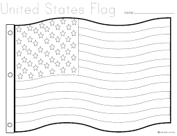 Usa Flag Coloring Page Flag Worksheet Flag Coloring Page