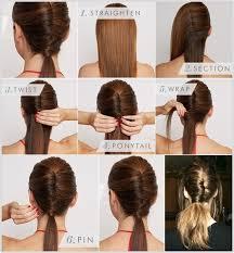 chic diy chignon ponytail hairstyle tutorial