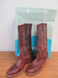 nice clean las leather cowboy boots sz 8 1 2
