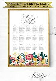 Amazon Com Malertaart Wedding Seating Chart Wedding Seating