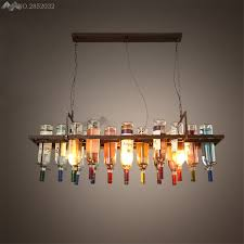 Image restaurant kitchen lighting Pendant Creative Recycled Retro Ceiling Pendant Lamps Hanging Wine Bottle Led Light Dining Roombar Aliexpresscom Creative Recycled Retro Ceiling Pendant Lamps Hanging Wine Bottle