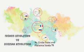 French And Russian Revolution Venn Diagram French Revolution Vs Russian Revolution By Emilie Freire On