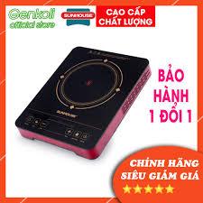 Bếp hồng ngoại Sunhouse SHD6014, bếp điện hồng ngoại đơn cảm ứng mặt kính  cường lực - Genkoli Store - Bếp điện kết hợp Nhãn hàng SUNHOUSE