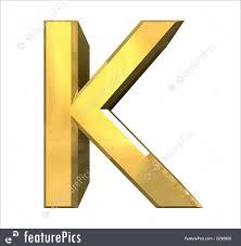 gold 3d letter k 3d made