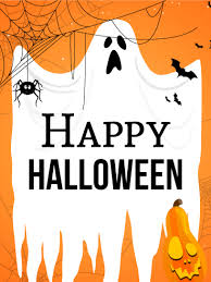 Spooky Ghost Halloween Card Birthday Greeting Cards By Davia