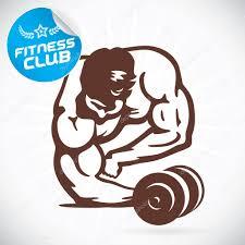 Kulturista Fitness Model Ilustrace Znamení Symbol Tlačítko