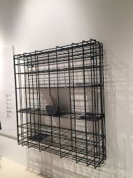Wire furniture Plywood Leyvawirebookcase Homedit Wire Furniture Accents Shape Spaces In Unexpected Ways