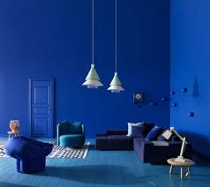 blue interior paintRich Blue and Pink Interior Decorating Paint Colors and Modern