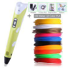 3D Baskı Kalem Akıllı 3 D Yazıcı Kalem Çizim Kalem Ile 1.75mm PLA 100 Metre  Filamentler 10 Renk Plastik Lapis 3d Çocuk Hediye Için 3d Yazıcılar And 3d  Tarayıcılar - Onlineview.news