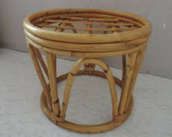 bamboo furniture designs. Bamboo Ottoman MCM Furniture Foot Stool Boho Home Decor Ratan Designer Furnishings Bohemian Designs U