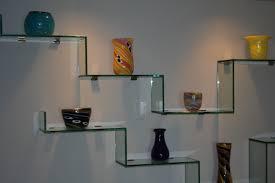 Plush Design Ideas Glass Shelves Fresh Modern Wall Mounted Com
