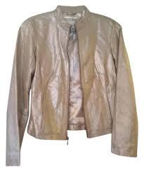 golden leather jackets white house black market metallic light gold jacket goose er