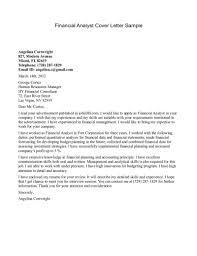 Cover Letter For Finance Job No Experience Adriangatton Com