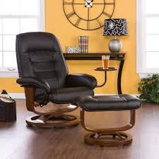 Furniture: Reading Chair And Ottoman Exciting Super Ergonomic Black Leather Reading  Chair With Ottoman For