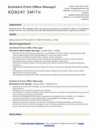 Assistant Front Office Manager Resume Samples | Qwikresume