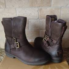 details about ugg simmens stout waterproof er leather ankle boots size us 6 5 womens
