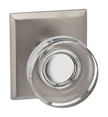 customizable glass door knob latchset