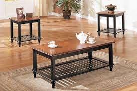 Coffee Table Set Of 3 Glass Coffee Table Set Of 3 Poundex F3096 3 Pcs Black Glass