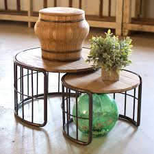 contemporary rustic modern furniture outdoor. Farmer\u0027s Barrels Nesting Tables - Set Of 2 Unique Modern Furniture Dot \u0026 Bo Contemporary Rustic Outdoor