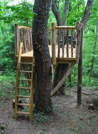 With kid-safe rustic railings, an easy to maneuver ladder, and plenty of  room at the top, this custom tree house is a fantastic way to add fun to  any ...