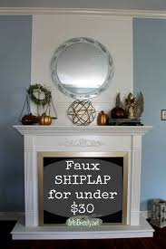 and easy faux ship lap fireplace makeover diy fixerupperstyle