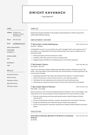 Is It Better To Have A Traditional Resume Or A Modern Resume For Noncreative Jobs It Qa Analyst Resume Example Template Sample Cv Formal