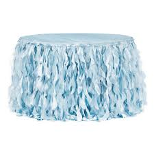 Light Blue Table Skirt Curly Willow 17ft Table Skirt Baby Blue