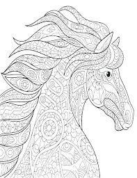 Wild Horse Coloring Pages Free Ble For Horses Herd Printable