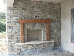 veneer warm fireplace stone