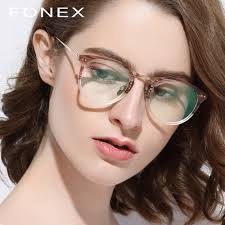 <b>Pure Titanium Glasses</b> Frame Men 2018 Vintage Round Ultralight ...