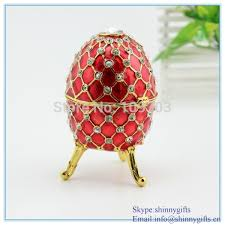 Decorative Jewelry Gift Boxes Aliexpress Buy Red Fancy Musical Egg Shaped Hinged Jewelry 31